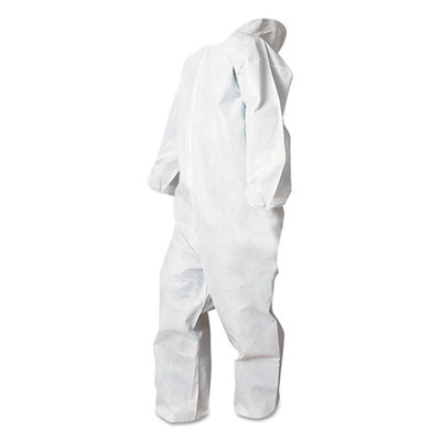 Boardwalk Disposable Coveralls, White, Medium, Polypropylene, 5-Pack - Part Number: 9306-01201