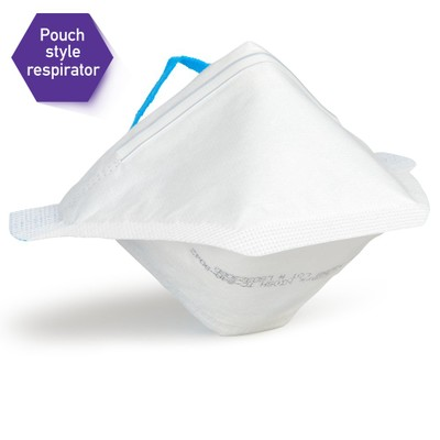 Kimberly-Clark Kimtech N95 Pouch Respirator. NIOSH Approved, Bag of 50 White Masks - Part Number: 9307-00406