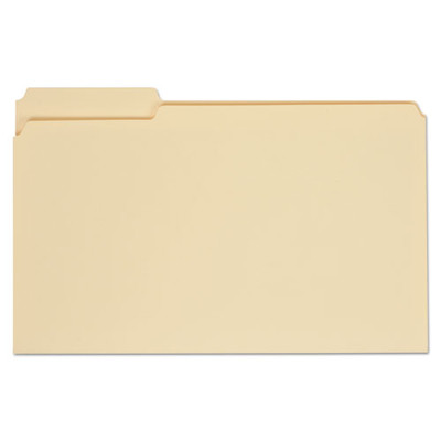 Universal File Folders, Straight Cut, One-Ply Top Tab, Letter, Manila, 100/Box - UNV12110 - Part Number: 9311-02103