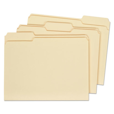 Universal File Folders, 1/3 Cut Assorted, One-Ply Top Tab, Legal, Manila, 100/Box - UNV15113 - Part Number: 9311-02104