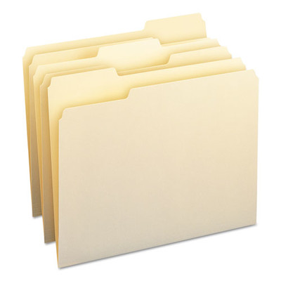 Smead File Folders, 1/3 Cut Assorted, One-Ply Top Tab, Letter, Manila, 100/Box - SMD10330 - Part Number: 9311-02201