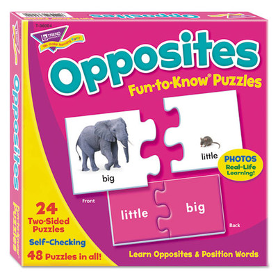 Fun-To-Know Puzzles, Opposites - Part Number: 9601-00002