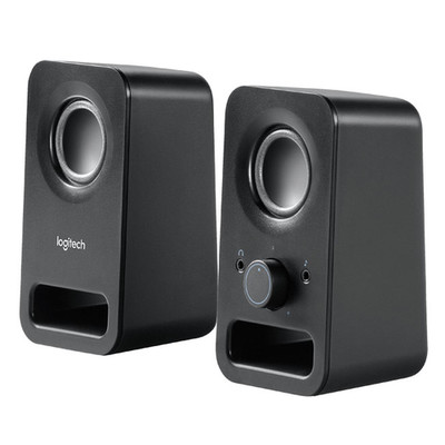 Logitech 980-000802 Z150 2.0 Speaker System - Midnight Black - Part Number: 980-000802