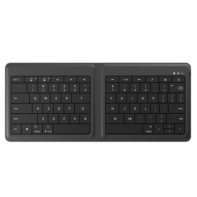 Microsoft GU5-00001 Foldable Keyboard - Bluetooth - Compatible with iPhone, iPad, Tablet, Smartphone, Computer - Part Number: GU5-00001