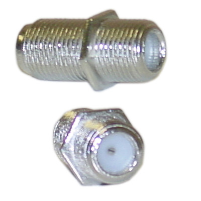 F-pin Coaxial Coupler, F-pin Female - Part Number: ASF-20050