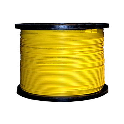 Bulk Plenum Zipcord Fiber Optic Cable, Singlemode, Duplex, 9/125, Yellow, Spool, 1000 foot - Part Number: 11F1-001NH