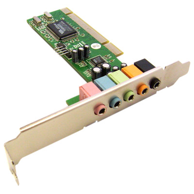 PCI Sound Card, 5.1 Channel Surround Sound - Part Number: ENM232-6VIA