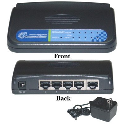 5 port Fast Ethernet Switch, 10/100 Mbps, Auto-Negotiation - Part Number: ES-3105P