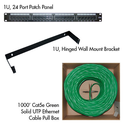 Cat5e Basic Network Kit (Green) - Part Number: KIT-C5E001GR