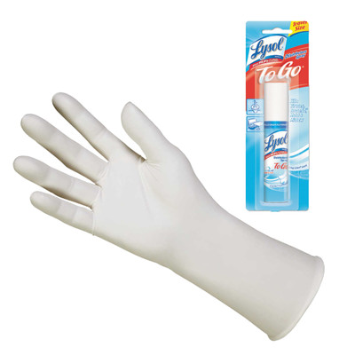 Kimtech G3 NXT Nitrile Gloves, Powder-Free, 305 mm Length, Medium, White, 100/Box, includes Free Lysol Disinfectant Spray 1oz - Part Number: KIT-LYSOL-2