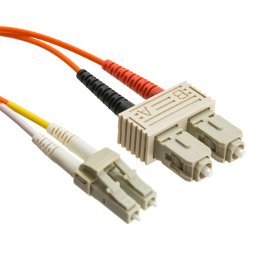 Fiber Optic Cable, LC / SC, Multimode, Duplex, 50/125, 3 meter (10 foot) - Part Number: LCSC-11003