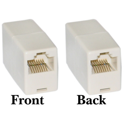 RJ45, 8P8C, (Straight) Telephone Inline Coupler - Part Number: MC-8P8C-ST