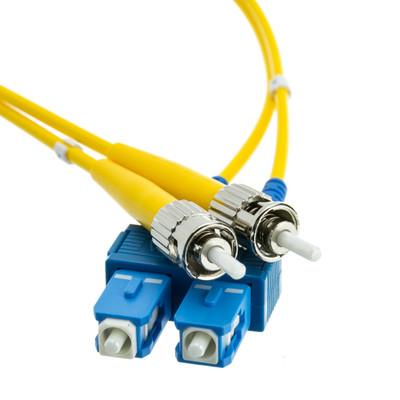 Fiber Optic Cable, SC / ST, Singlemode, Duplex, 9/125, 8 meter (26.2 foot) - Part Number: SCST-01208