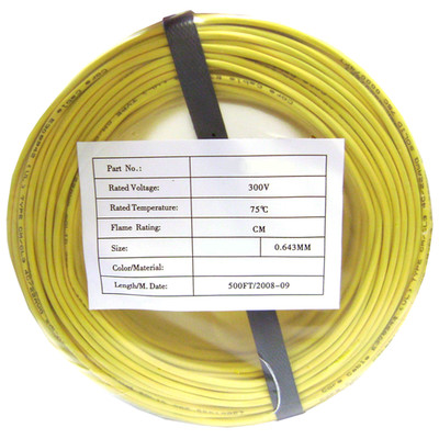 Security/Alarm Wire, Yellow, 22/2 (22AWG 2 Conductor), Stranded, CMR / Inwall rated, Coil Pack, 500 foot - Part Number: 10K4-0281BF
